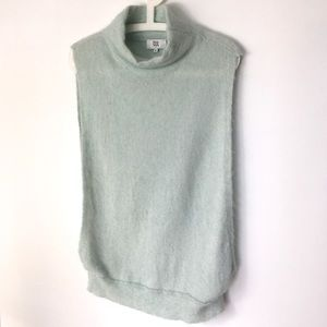 NOA NOA Mint Green Mock Neck Relaxed Fit Vest M